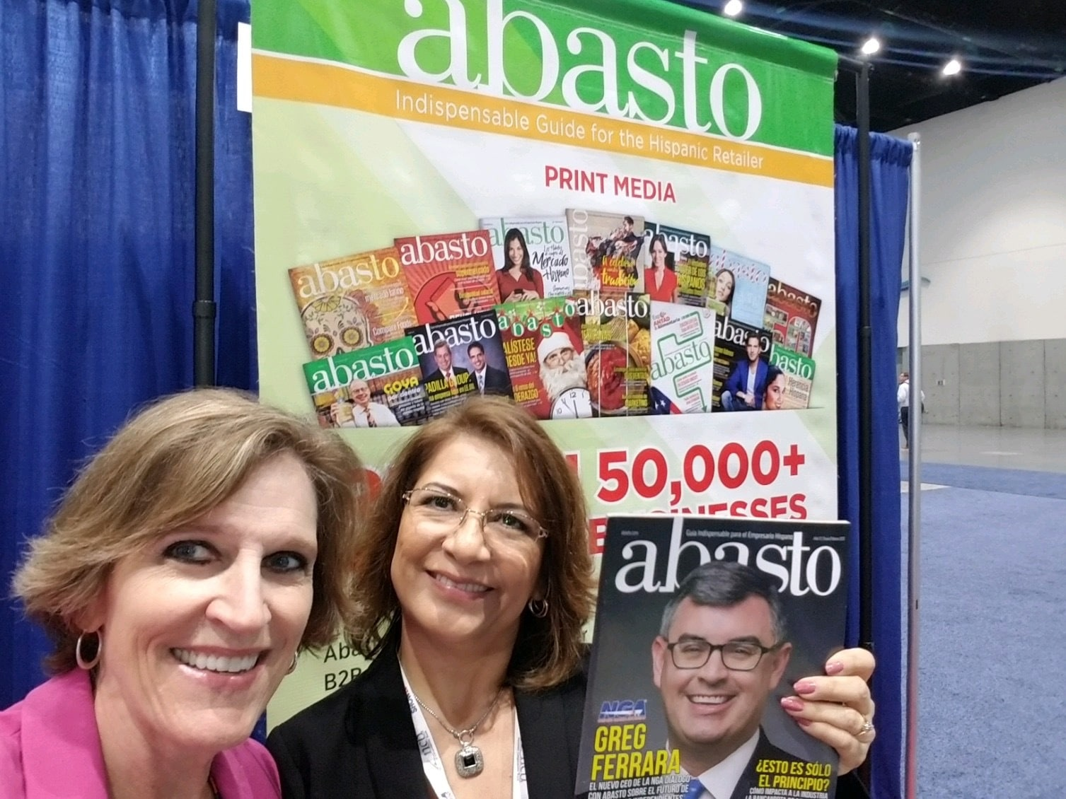 Cindy with Abasto Magazine