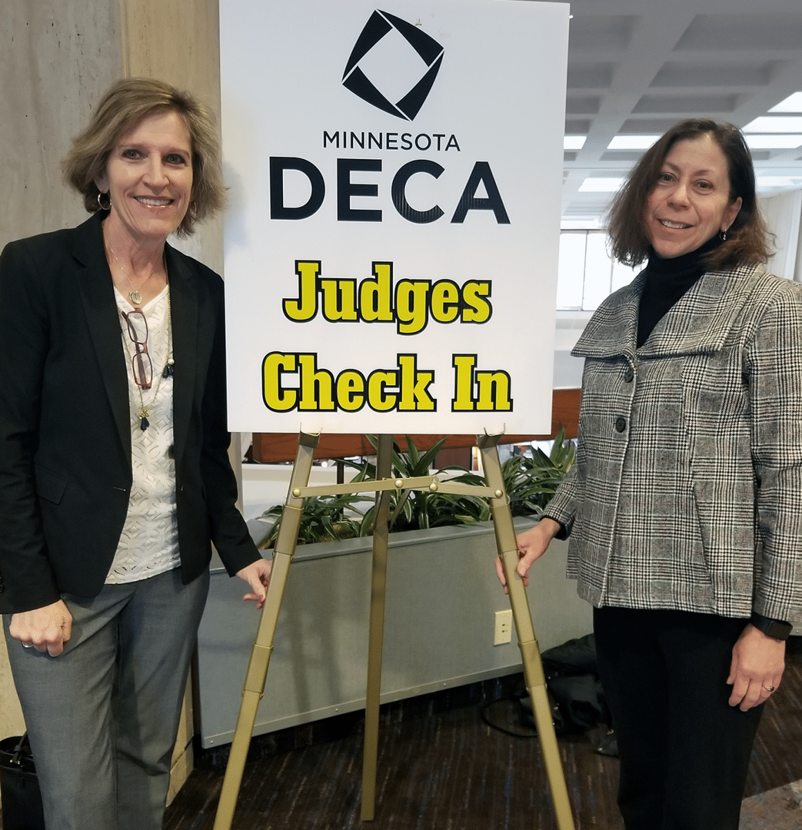 Cindy and Christine - Judging at Minnesota DECA