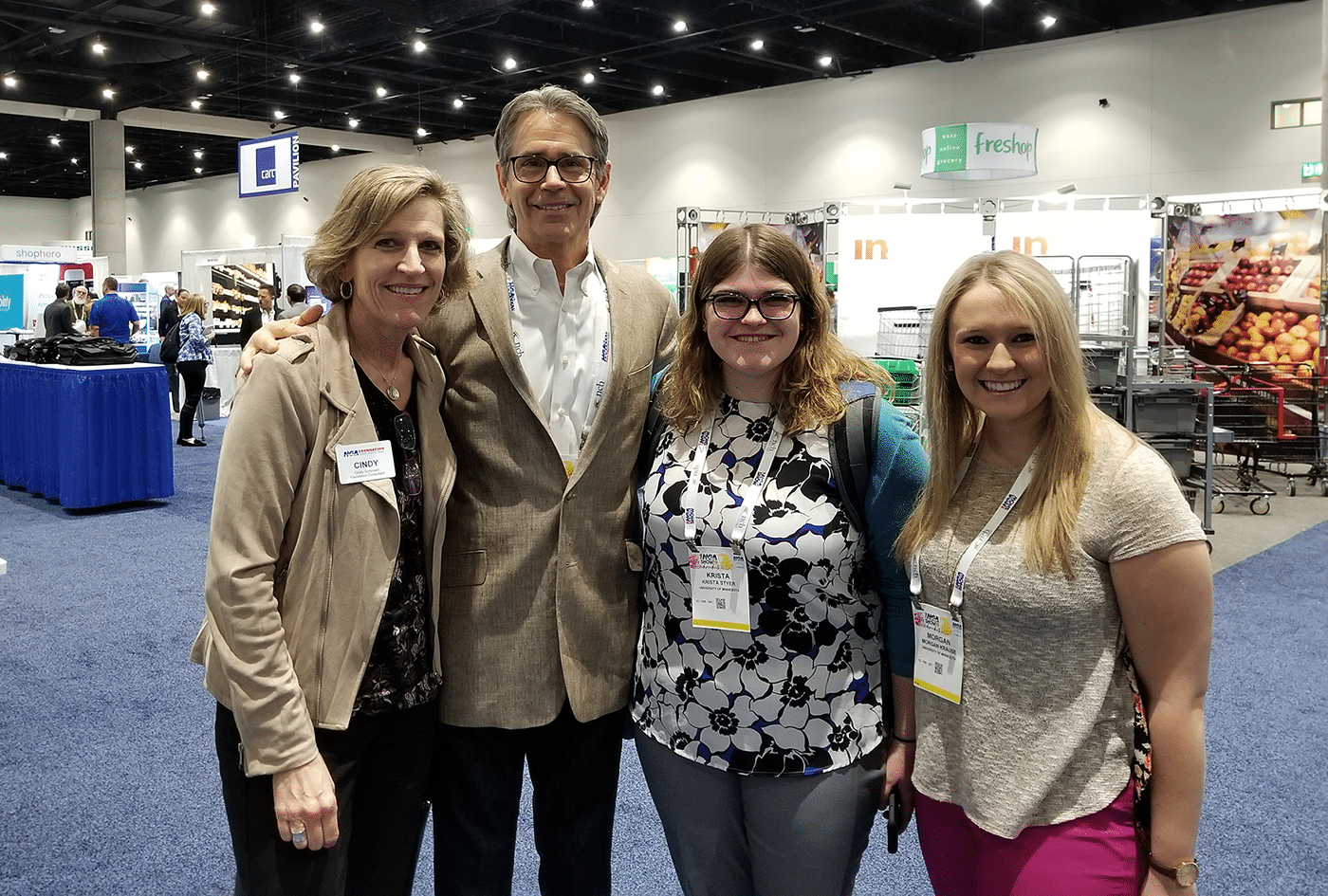Cindy, Harold Lloyd and U of MN students at NGA show