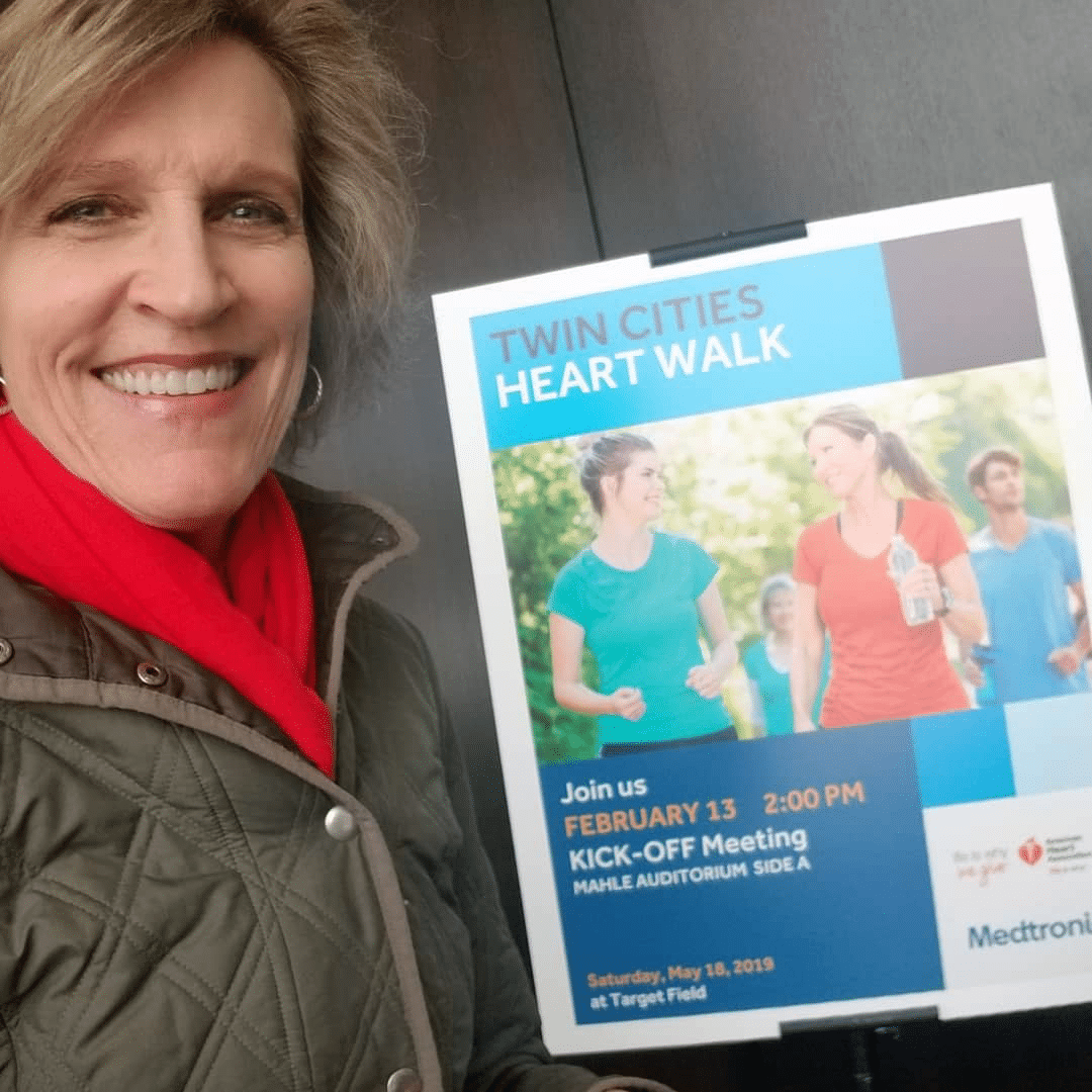 Cindy speaking at Medtronic HQ to kick off Heart Walk team