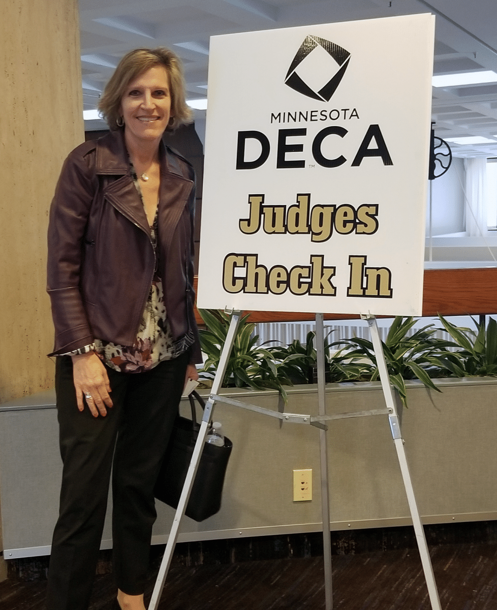 Cindy - Judging at Minnesota DECA