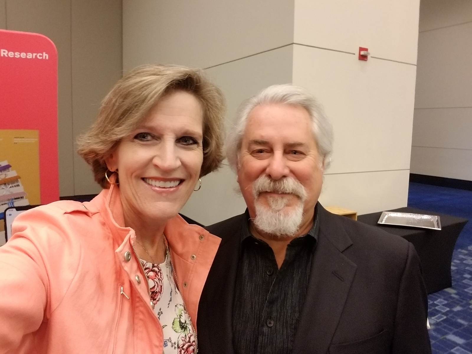 Cindy with Phil Lempert at the Retail Dietitain Business Alliance Retail Dietitian Exchange, May 2019