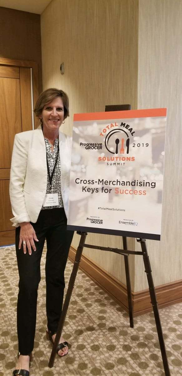 Cindy presenting about Cross Merchandising at the Total Meal Solutions Summit.