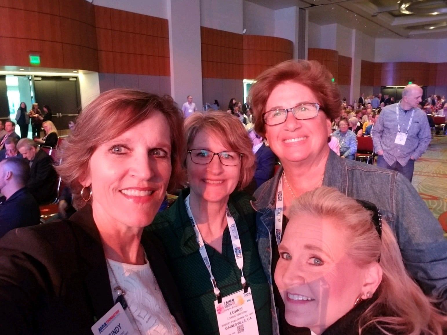 Cindy with Lorrie Griffith, Bev Lynch of Food Industry Association Executives-FIAE