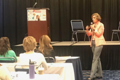 Cindy presenting at Retail Dietitan Exchange, May 2019