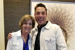 Cindy with Jeff Mauro at the Total Meal Solutions Summit